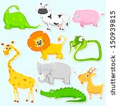 illustration of set of cute... | Shutterstock .eps vector #150939815