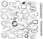blank postal stamps set. vector ... | Shutterstock .eps vector #1509445907