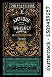 old  label design for whiskey... | Shutterstock .eps vector #1509459257