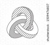 triple mobius loop technical... | Shutterstock .eps vector #1509476837