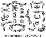 vintage floral and birds design ... | Shutterstock .eps vector #150949145