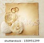 wedding invitation | Shutterstock . vector #150951299