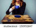 businesswoman has had a very... | Shutterstock . vector #150952847