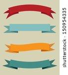 set of vintage banners. vector... | Shutterstock .eps vector #150954335