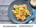 Top View Of Tasty Shrimp...