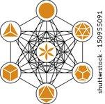 metatrons cube  platonic solids ... | Shutterstock .eps vector #150955091