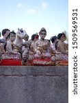 Small photo of The Dolls of Shrine, Dolls slave for Spirit house, Thai believe tradition, Devotional doll, man woman dolls