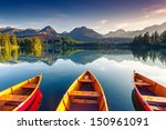 mountain lake in national park... | Shutterstock . vector #150961091