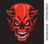 red devil skull vector logo | Shutterstock .eps vector #1509613814