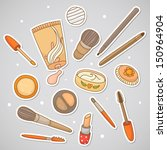 cosmetics for make up. hand... | Shutterstock .eps vector #150964904