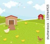 Farm Chicken Coop. Summer Time