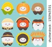 thanksgiving teeth  corn ... | Shutterstock .eps vector #150965531