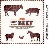 announcement,badge,barbecue,bbq,beef,butcher,butchery,cartoon,chef,chicken,cook,cow,cut,delicious,design