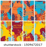 vector abstract floral herbal...   Shutterstock .eps vector #1509672017