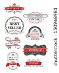 retro labels set or idea of... | Shutterstock .eps vector #150968981