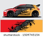 rally car decal graphic wrap... | Shutterstock .eps vector #1509745154