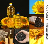 Collage With Sunflower Oil  ...