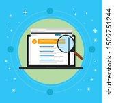 seo  search engine optimization ... | Shutterstock .eps vector #1509751244