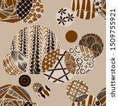 doodled circles. seamless... | Shutterstock .eps vector #1509755921