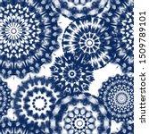 seamless pattern shibori in... | Shutterstock .eps vector #1509789101