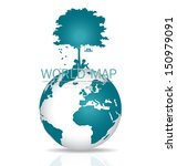 save the world. vector... | Shutterstock .eps vector #150979091