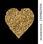 heart shaped peeled seeds on... | Shutterstock . vector #1509802934