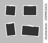 blank photo frames. empty blank ... | Shutterstock .eps vector #1509812621