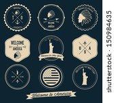 america vintage label design   Shutterstock .eps vector #150984635