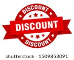 discount ribbon. discount round ... | Shutterstock .eps vector #1509853091