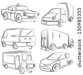 sketched transportation icons... | Shutterstock .eps vector #150985355
