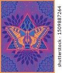 psychedelic art poster  1960s ... | Shutterstock .eps vector #1509887264