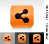 share icon set orange color...
