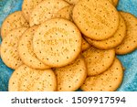 Round Digestive Biscuits On A...