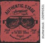 vector old school race poster. | Shutterstock .eps vector #150993521