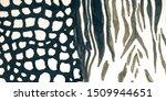 aged animal mix print. grey... | Shutterstock . vector #1509944651