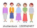 5 senior woman standing in front | Shutterstock . vector #1509969497