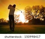 golf sunset   Shutterstock . vector #150998417