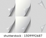 curled page paper corner set....   Shutterstock .eps vector #1509992687