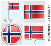 norway flag   set of various... | Shutterstock .eps vector #151000754