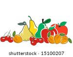 fruit composition | Shutterstock . vector #15100207