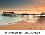 cromer pier in norfolk at dawn