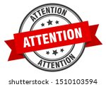 attention label. attention red... | Shutterstock .eps vector #1510103594