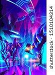 a futuristic illustration in... | Shutterstock .eps vector #1510104314