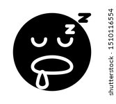sleep expression icon with...