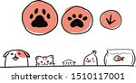 Stock vector illustration of pet poster or presentation include popular pet such as dog cat fish hamster and 1510117001