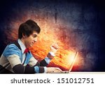 image of young businessman at... | Shutterstock . vector #151012751
