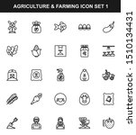 agriculture   farming line icon ...
