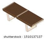 slatted bench rendering  ... | Shutterstock .eps vector #1510137137