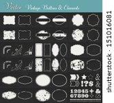 vintage vector set with labels  ... | Shutterstock .eps vector #151016081