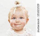 portrait of an adorable baby... | Shutterstock . vector #151021529